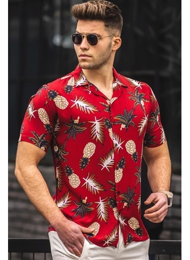 Madmext   Erkek Gömlek 4943 Kırmızı